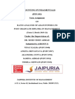 RATIO ANALYSIS OF ADANI POWER LTD
