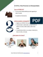 Spanish Plain Language Information on Coronavirus