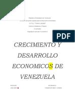 crecimiento de venezuela