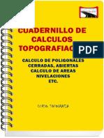 Topografía  calculo de poligonal cerrada