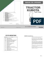 Manual Operación Kubota b2320