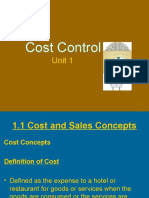 Food & Beverage Cost Control - Introduction