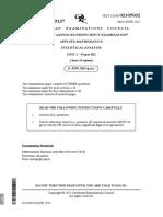 CAPE Applied Mathematics 2015 U1 P032