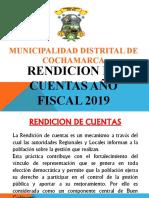 RENDICION DE CUENTAS COCHAMARCA AÑO 2019