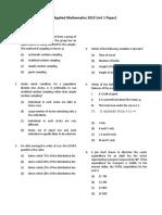 CAPE Applied Mathematics 2013 U1 P1