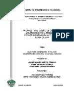 Tesis Propuesta de diseño de control y monitoreo de una máquina de recubrimiento abrasivo para el papel de lija