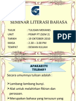 Literasi Bahasa (Tulisan Mekanis)