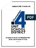 Champaign Unit 4 School District Reopening Framework