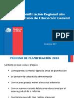 Planificación Regional DEG  2018