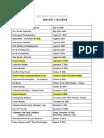 Red River Parish Public Schools' 2020-21 calendar