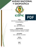 Reseña del libro sistema político ecuatoriano