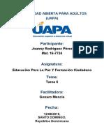 Tarea 6 Educación Para La Paz y Formación Ciudadano