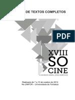 Anais De Textos Completos SOCINE (XVIII)