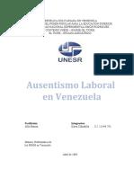AUSENTISMO LABORAL EN VENEZUELA