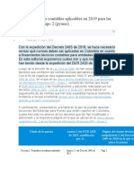Normas técnicas contables aplicables en 2019 para las entidades de grupo 2