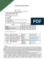 Sílabo Anatomia Humana - Farmacia -A