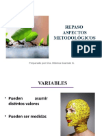 REPASO ASPECTOS METODOLÓGICOS 2016