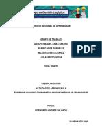 evidencia 1 CUADRO COMPARATIVO MODOS Y MEDIOS DE TRANSPORTE