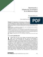 Información y Adaptación tecnológica de la Bibliotecología