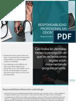 RESPONSABILIDAD PROFESIONAL EN ODONTOLOGIA