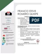 Romero Quispe Franco Steve - CV