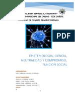 Epistemologia,ciencia,neutralidad y compromiso.Funcion social