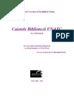 Caietele Bibliotecii UNATC nr. IV