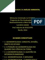 A geomorfologia e a análise geoambiental