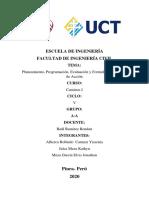 Planeamiento, Programación, Evaluación y Formulación del plan de acción