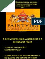 AULA DE GEOMORFOLOGIA