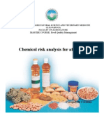 Chemical risk analysis for aflatoxin