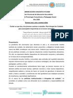 Comunicación Conjunta 2. Secundaria y Psicología