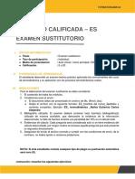 Examen Sustitutorio TERMODINAMICA  Desarrollado