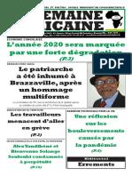 semaine africained du Vendredi 24 Juillet 2020 n°3986