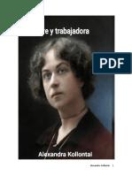 Madre y trabajadora Alexandra Kollontai