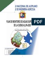Plan de Monitoreo  de aguas  superficiales de Illpa