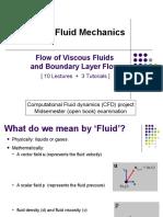 Flow of Viscous Fluids and Boundary Layer Flow-set