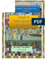 HEALTH 9 FIRST QUARTER LEARNING MODULE
