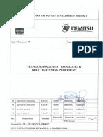 05-1_EPC-GE-PTC-L-PR-00157_Rev D2 Flange Management Procedure & Bolt Tightening Procedure