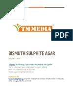 Bismuth Sulphite Agar TM 039 Technical Datasheet