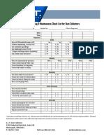 ACT Inspection Log & Maintenance Check List