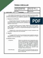 TESDA Circular No. 081-2020
