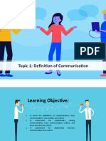 Topic 1 Definition of Communication