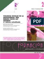 VIOLENCIA ESCOLAR - Una mirada hacia las víctimas