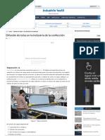 Difusión de telas en la industria de la confección - Industria de la confección