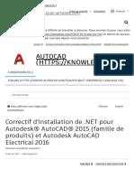 Correctif d'installation de .NET pour famille de produits Autodesk