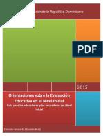 Orientaciones sobre  la Evaluación Educativa Nivel  Inicial