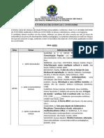 Temas e Referencias e Cronograma - Edital ARTES2