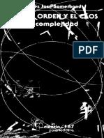 Moisés José Sometbond - Entre El Orden y El Caos La Complejidad