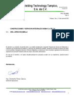 COTIZACION DE PND (RADIOGRAFIA, LIQUIDOS, PROCEDIMIENTO)